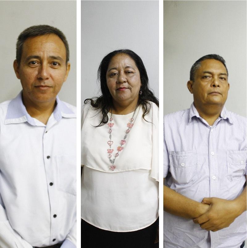 Erney Galván, Benilda Beleño y Aníbal Benítez vocales de control de Valledupar.   EL PILÓN