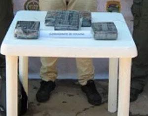 El hombre llevaba la droga en dos panelas de plástico.   JUDICIALES