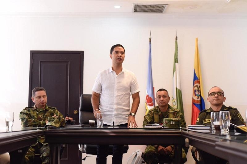 Mello Castro González durante consejo de seguridad esta mañana.   FOTO/ELPILÓN.
