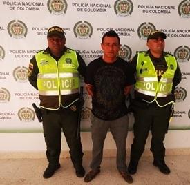 Evelio Caicedo será remitido a la ciudad de Valledupar donde se desarrollará la audiencia por el delito que le fue impuesto.  FOTO/JUDICIAL.