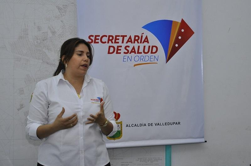 La secretaria local de Salud, Lina de Armas, explicó en detalle cómo avanza el coronavirus en Valledupar.  FOTO/ Joaquín Ramírez/EL PILÓN