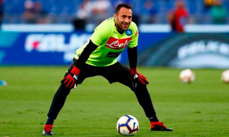 El portero colombiano David Ospina continuará trabajando al mando de Gattuso en el regreso a los entrenamientos.