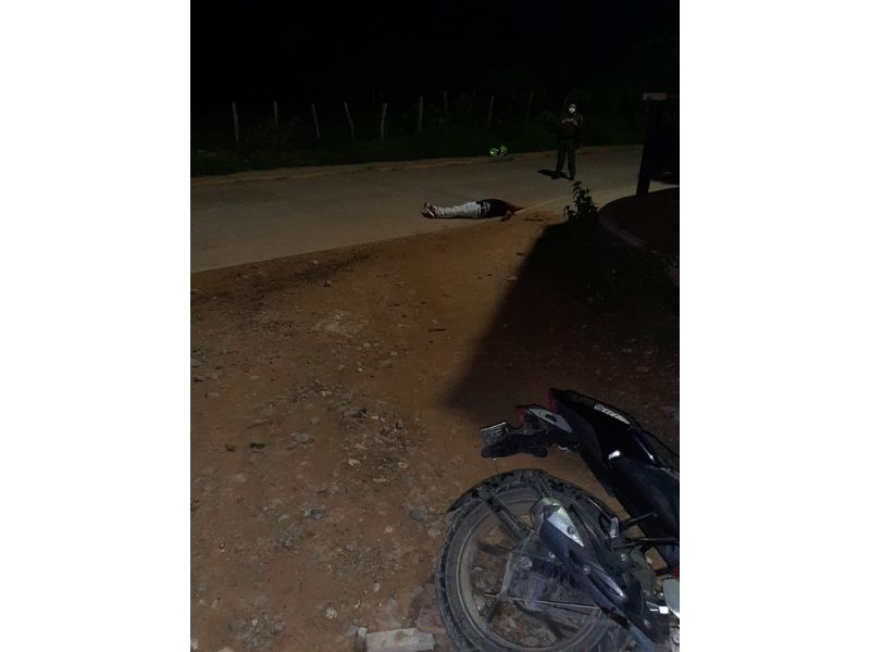 En este sitio murió la víctima.  FOTO/CORTESÍA.