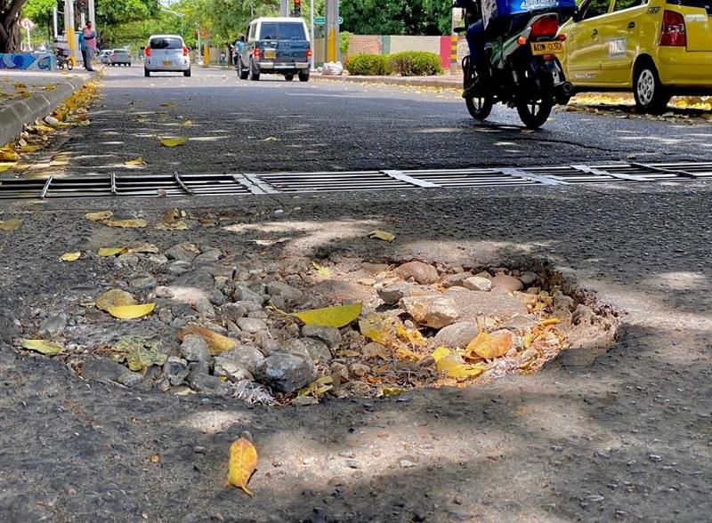 Las vías en mal estado de la ciudad han generado afectaciones a propietarios de vehículos.   FOTO/JOAQUÍN RAMÍREZ.