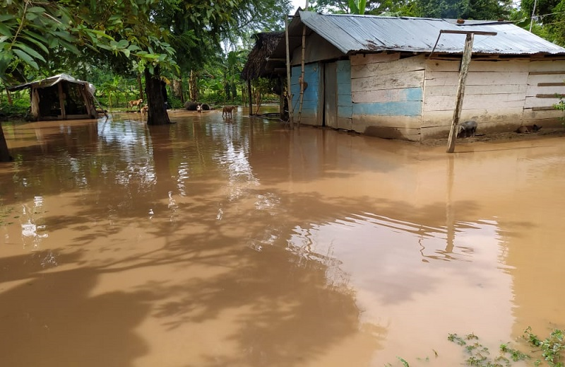 Campesinos en Tamalameque sienten temor por las condiciones del río Magdalena.   FOTO/CORTESÍA.