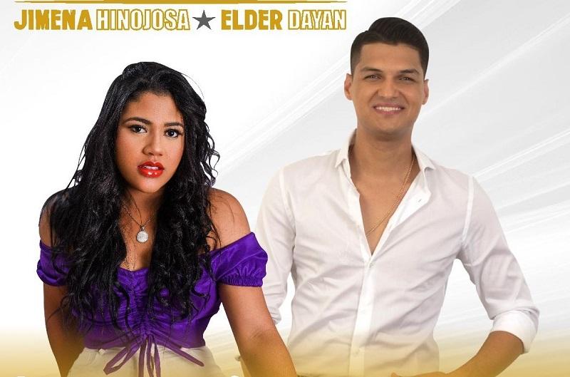 Jimena Hinojosa y Elder Dayán Díaz, cantantes de la música vallenata.     FOTO/CORTESÍA.