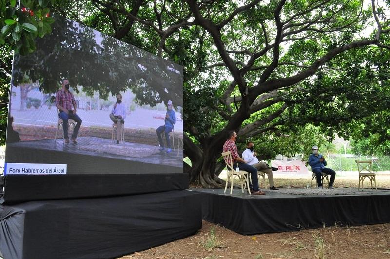 Panel del foro 'Hablemos del árbol'.  FOTO/JOAQUÍN RAMÍREZ.