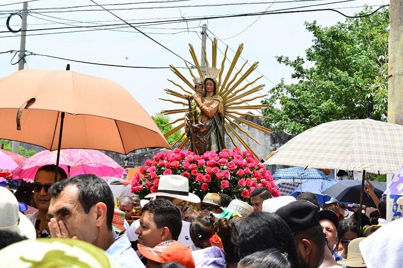 La virgen del Rosario se le atribuye el milagro de la resurrección, según la leyenda.   FOTO: JOAQUÍN RAMIREZ