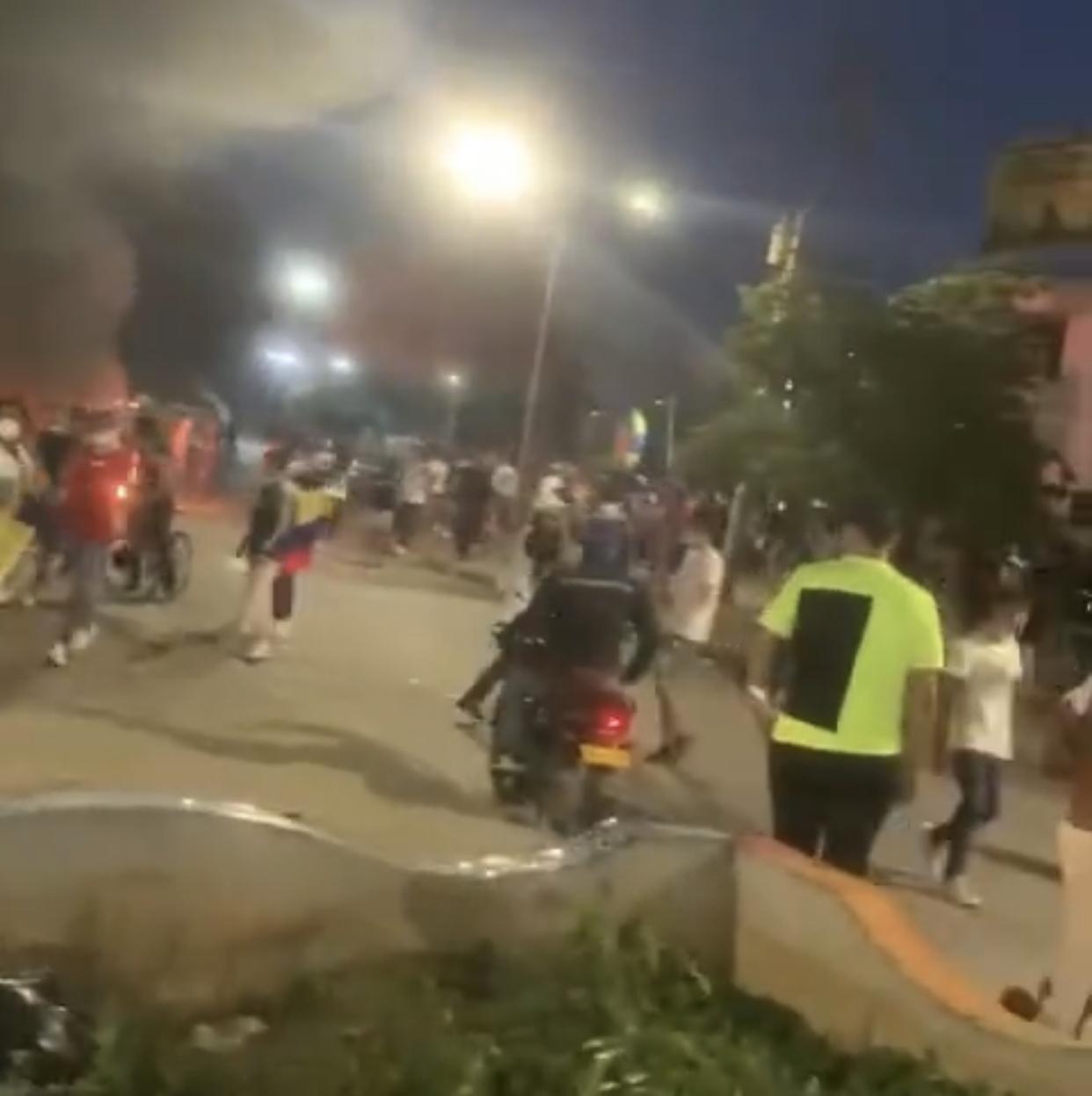 Caos en medio de las protestas.