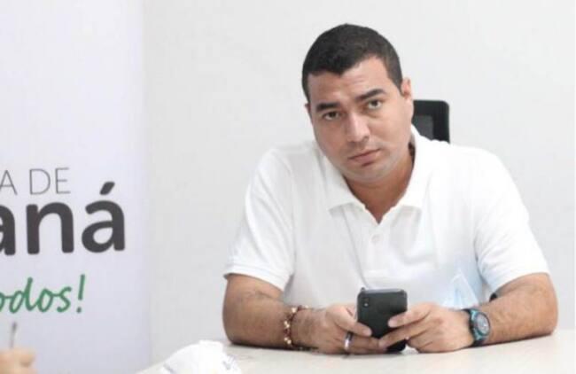 Alcalde de Chiriguaná, Carlos Iván Caamaño.  Foto: cortesía.