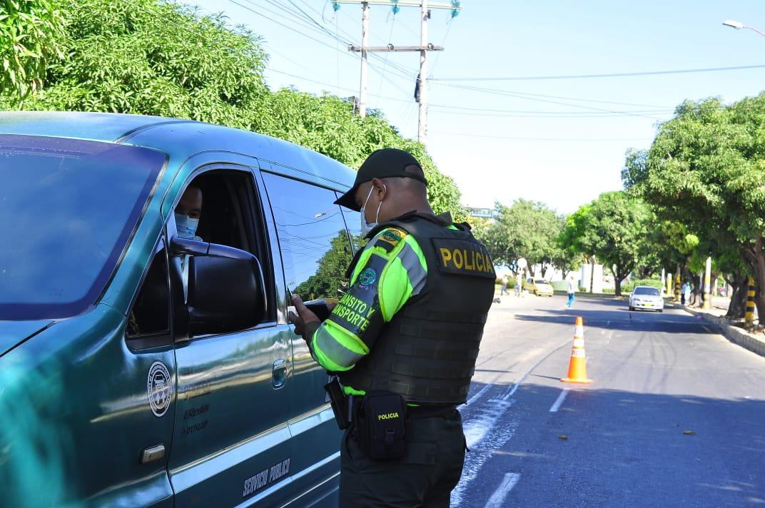 El convenio firmado por la administración municipal y  la Seccional de la Policía de Tránsito y Transporte tiene un valor de $1.000 millones.  Foto: Joaquín Ramírez.