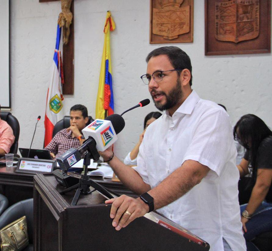 Carlos Liñán, jefe de la Oficina de Cultura de Valledupar.
