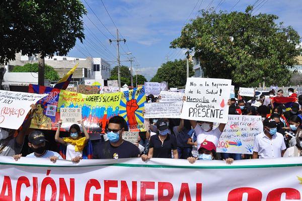 En el Cesar se realizaron protestas en los 25 municipios.
