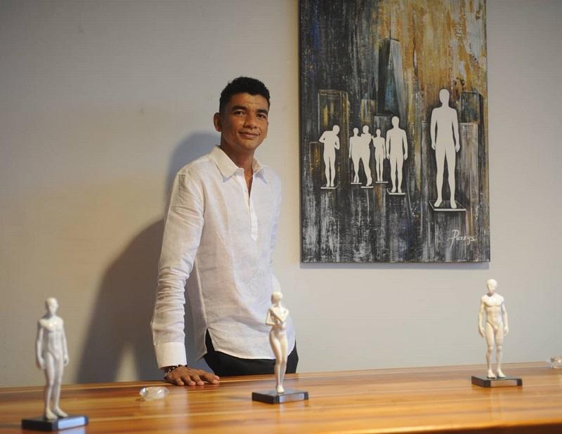 Jorge Ariza, artista cesarense conocido como Perkys.   FOTO: CORTESÍA.