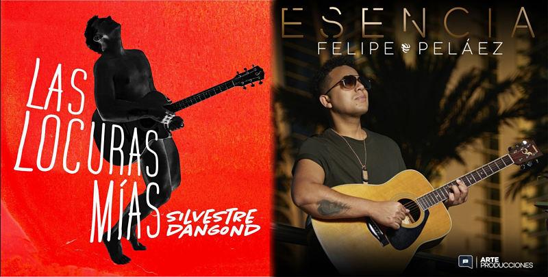 Uno de los últimos discos completos que se lanzaron son los de Felipe Peláez y Silvestre Dangond.     FOTO: CORTESÍA.