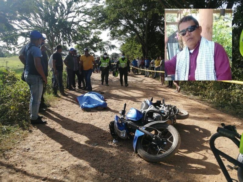 Abel Morales murió en el sitio del hecho.  FOTO: CORTESÍA.