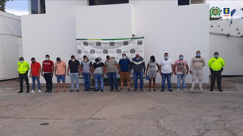 14 de los implicados aceptaron los cargos.  FOTO: CORTESÍA.