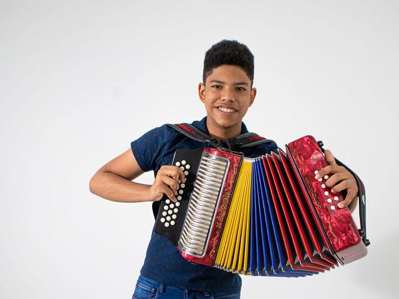 José David Caraballo, acordeonero cartagenero.  FOTO: CORTESÍA.