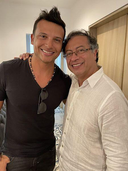Cayito Dangond y Gustavo Petro.