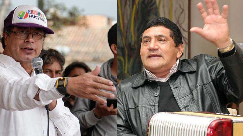 Poncho Zuleta y Gustavo Petro.   FOTO: CORTESÍA.