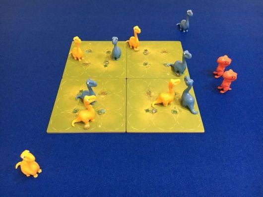 Jurassic Snack - Maldito Games - preparación partida