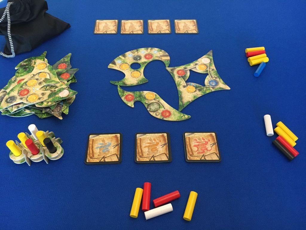 Disposición inicial menara juego de mesa