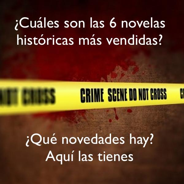 Las 6 novelas negras más vendidas y varias novedades