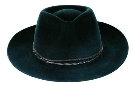 Sombrero Orzabal de fieltro color negro, María Cher.
