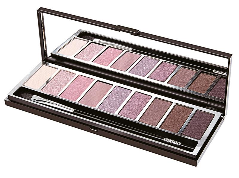 Paleta de sombras Pupart de Pupa. Una paleta de nueve sombras pigmentadas con un color increíble y matices diseñadas para mezclarse y combinar.