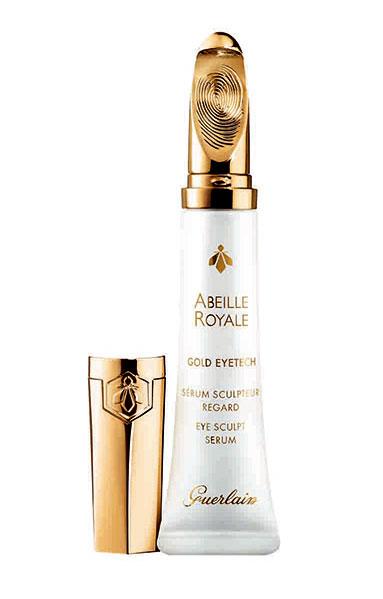 Abeille Royale Gold Eyetech Serum, Guerlain. El primer serum para la mirada, que combina una fórmula revolucionaria con eficacia reparadora y aplicador exclusivo. El contorno del ojo se descongestiona, quedando suave y luminoso.