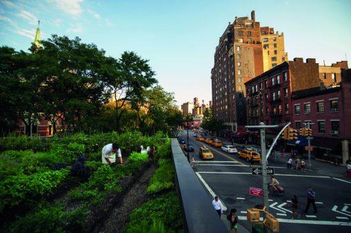 Vista del restaurante Rosemary's en Manhattan.