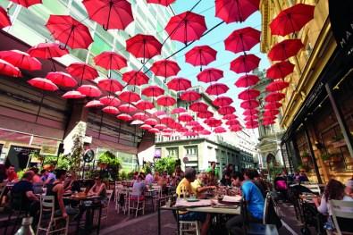 El restaurante Manufaktura, uno de los mejores de Belgrado.