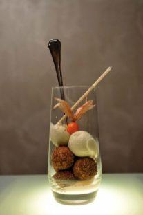 Joaquín Grimaldi presenta su Dolce Morte: helado de lima, cheesecake y leche condensada.