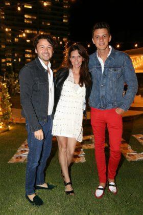Wally Diamante, Valeria Funes y Luis Corbacho, tres de los grandes protagonistas en la Sunset Party de El Planeta Urbano en el The Grand Hotel de Punta del Este.