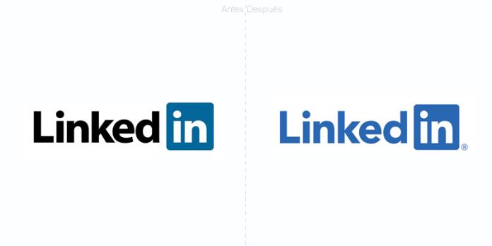 microsoft linkedIn coloca un sólo color a su logotipo