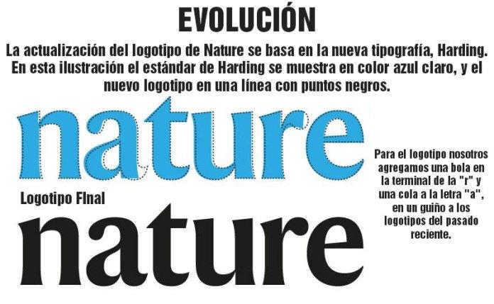 revista nature nuevo logotipo