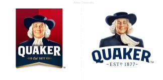 quaker un diseño más minimalista para una fórmula más saludable.