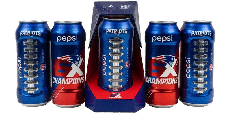 Pepsi Celebra Los 100 Anos De La Nfl Con Latas De Los Patriots