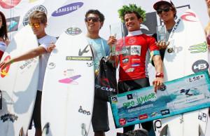 Juninho Urcia en el podio