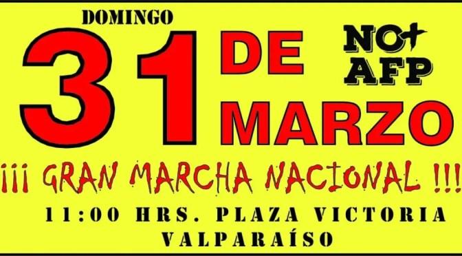 Domingo 31 de marzo marcha No + AFP (El Porteño en Portales)