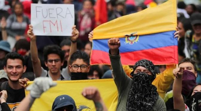 Ecuador: paquetazo de austeridad del Gobierno provoca un levantamiento popular