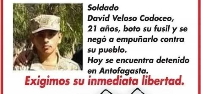 Campaña por la libertad del soldado chileno David Veloso