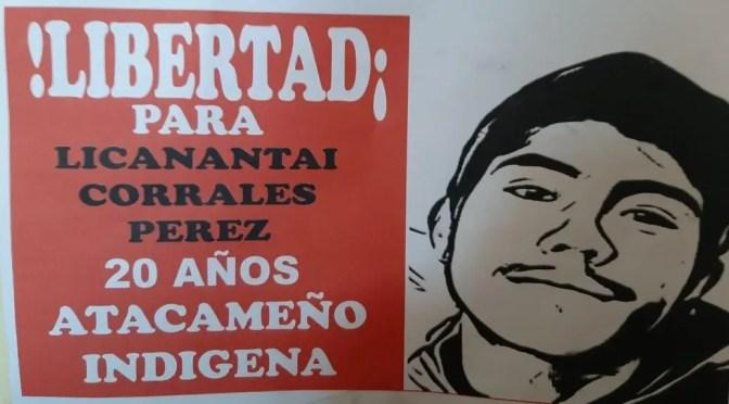 Carta de Licantai Corrales, preso político de Piñera, desde cárcel de Calama