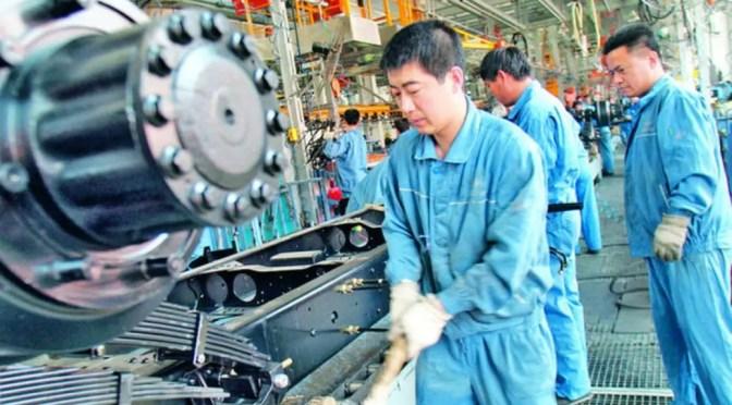 Caída récord en el índice clave de producción de China