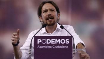 Pablo Iglesias. Podemos. Foto: web de El País.