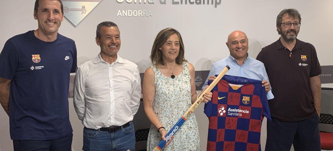 El bàsquet, l'hoquei i l'handbol del Barça de pretemporada a Encamp