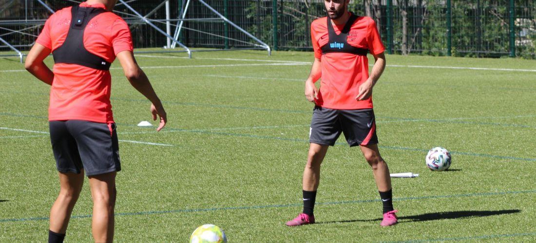 L'FC Andorra ha passat del blau al vermell