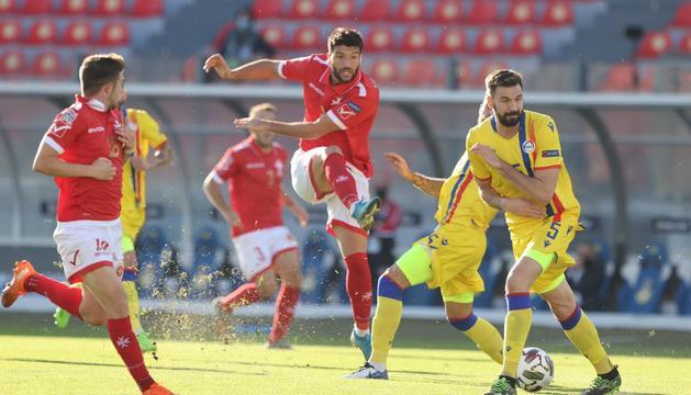 Andorra cau 3-1 a Malta tot i avançar-se primer en el marcador