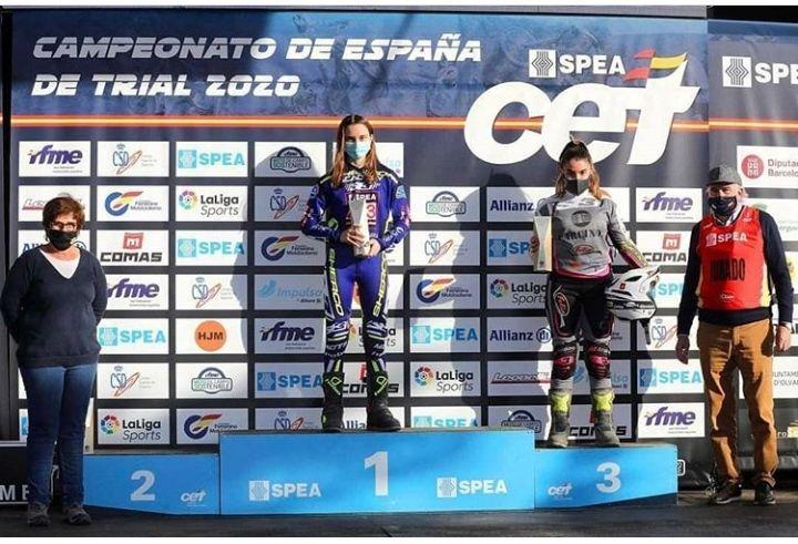 Laia Pi, campiona d'Espanya de trial