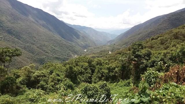Vista desde la ruta